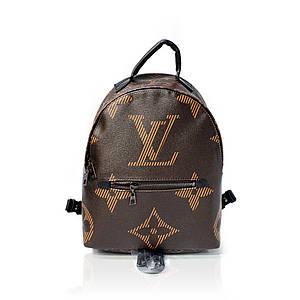 Кожаный рюкзак Louis Vuitton Коричневый AAA Copy
