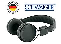Наушники проводные Schwaiger KH510S с динамиком, плоский провод, оригинал, черные