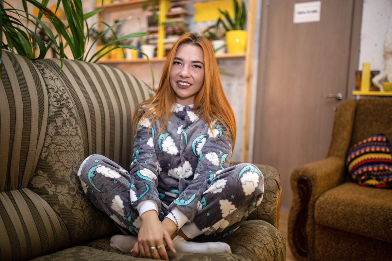 Пижама детская махровая комбинезон Сладкие Сны 140 см