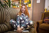 Пижама детская махровая комбинезон Сладкие Сны 140 см, фото 1