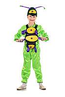 Детский карнавальный костюм Гусеница «Шкодница» 115-125 см, зеленый, фото 1