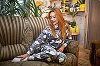 Пижама женская махровая комбинезон Сладкие Сны XXL-XXXL, фото 1