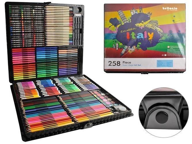 УЦІНКА!!!Набір для малювання 258 елементів, набір для творчості,живопису, набір для художників
