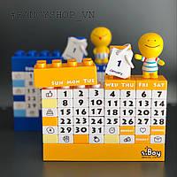 """Календар """"LEGO"""", жовтий з чоловічком, Календарь """"Конструктор Лего"""""""