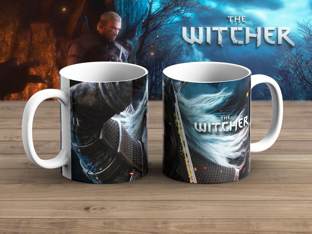 Чашка Геральт в атаке Ведьмак / Тhe Witcher