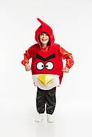Детский карнавальный костюм для детей «Злая птица» 120-130 см, красный, фото 1