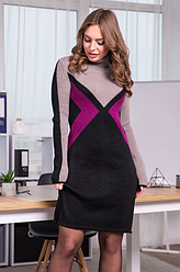 Вязаное платье с принтом «Конвертик»