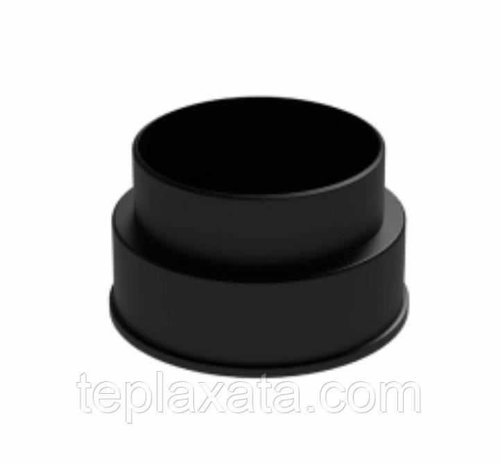 Переходник Ø125/110 KRONOPLAST R-4 (Черный)