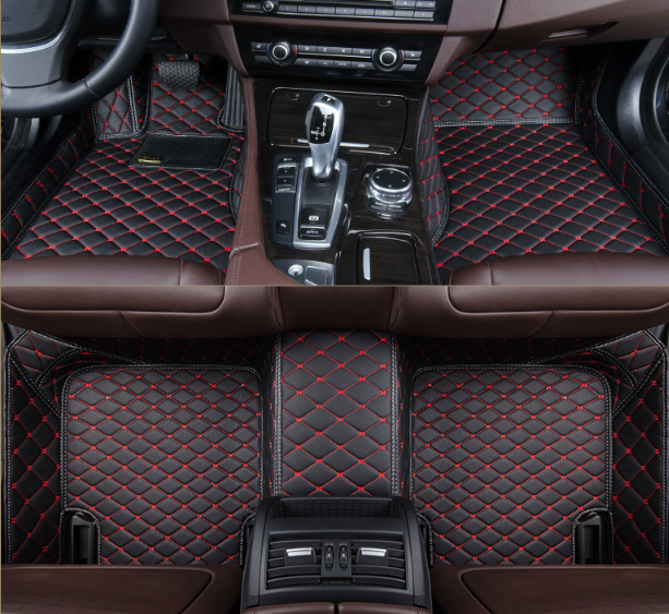 3D коврики 2 в 1 для Mazda CX-7 2006 - 2012 + антигрязь кожаные с бортиками