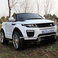 Детский электромобиль M 3213 EBLR-1 Land Rover, мягкое сиденье, белый