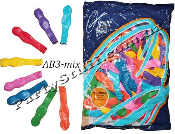 Воздушные шары Gemar АВ3 Кукла пастель ассорти 100 шт