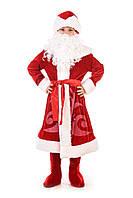 Детский карнавальный костюм Дед Мороз «Морозко» 130-140 см, красный, фото 1