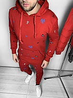 Красный Теплыймужской костюм