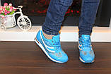 Кроссовки голубые женские Т785, фото 8