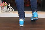 Кроссовки голубые женские Т785, фото 9