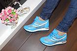 Кроссовки голубые женские Т785, фото 10