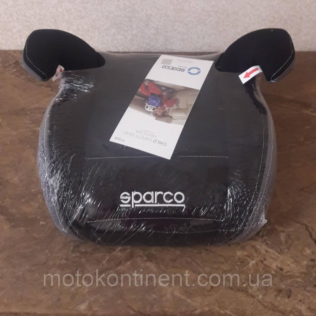 Детское Автокресло Бустер Sparco F100K Black/Grey - Италия  Для детей от 3-х до 12-ти лет