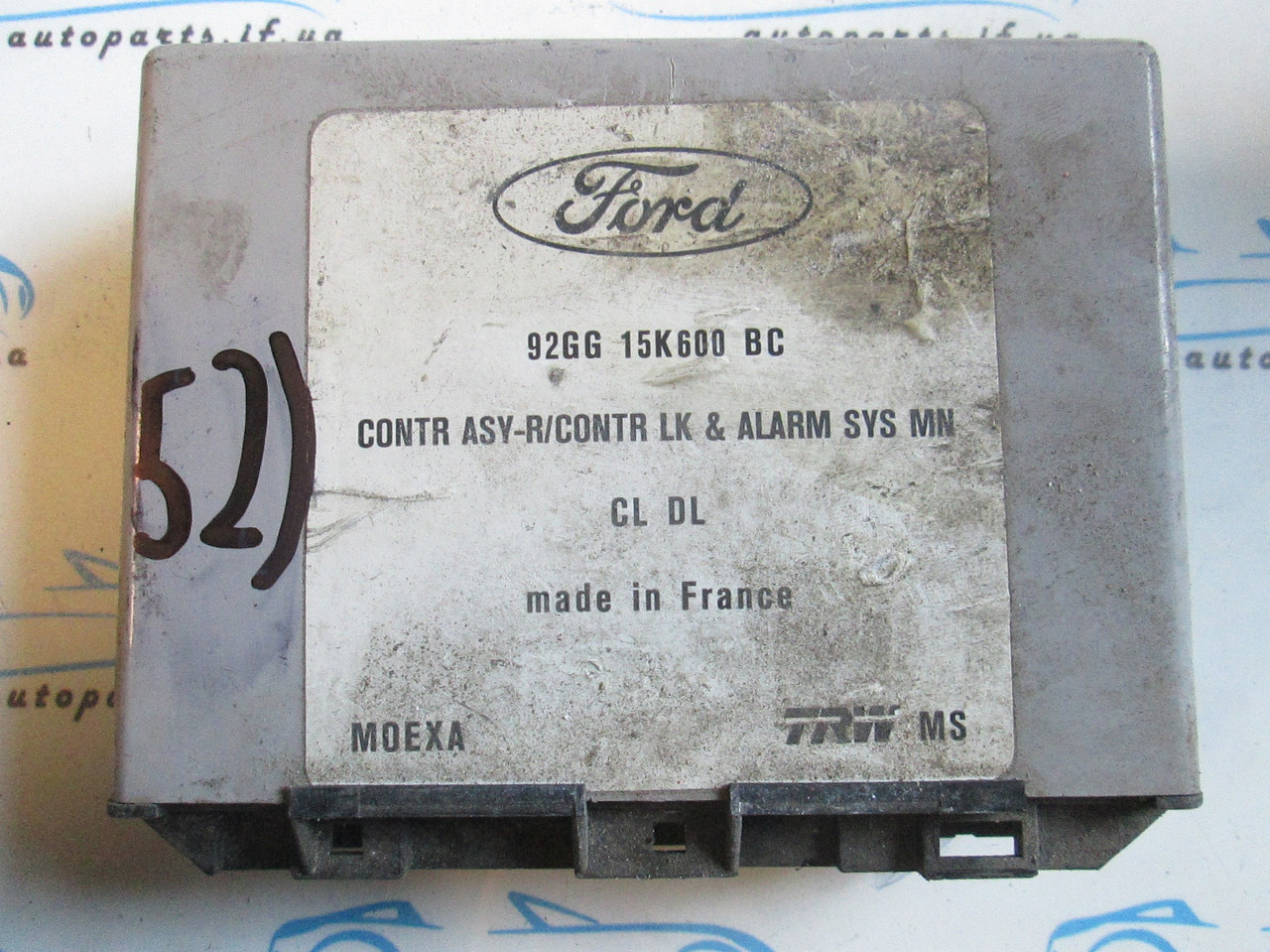 Блок управления Форд, Ford №52, 92GG15K600BC