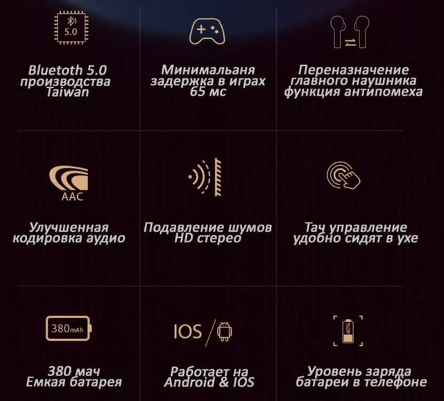 Беспроводные Bluetooth наушники QCY T5 Black