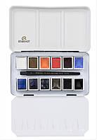 Набор акварельных красок REMBRANDT Cityscape URBAN 12 кювет + кисть в металлическом пенале 05838697