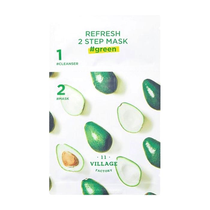Освежающая двухшаговая программа для ухода за лицом VILLAGE 11 FACTORY Refresh 2-step Mask  Green