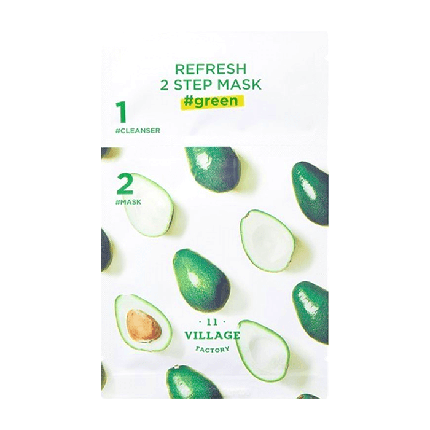 Освежающая двухшаговая программа для ухода за лицом VILLAGE 11 FACTORY Refresh 2-step Mask  Green, фото 2
