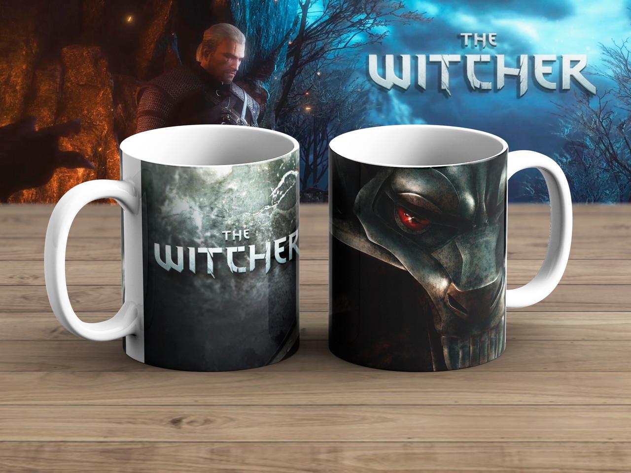 """Чашка  Ведьмак  символ """"голова волка"""" / Тhe Witcher"""