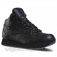 Утепленные кожаные кроссовки Reebok Classic Leather Mid Ripple GTX DV5107