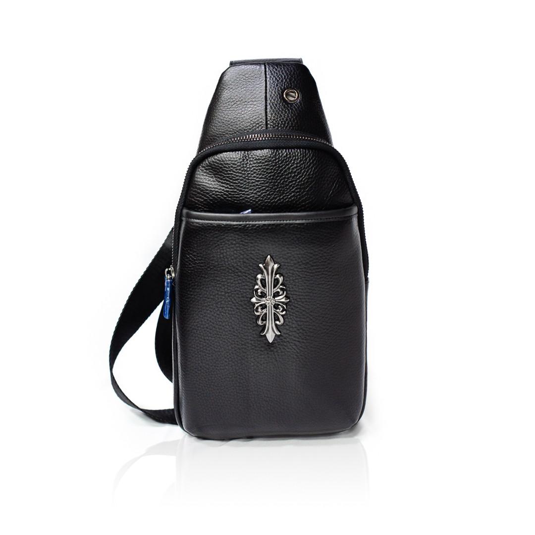 Рюкзак-слинг Натуральная кожа Черный