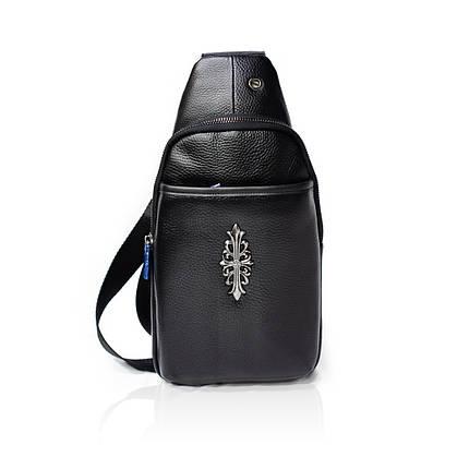 Рюкзак-слинг Натуральная кожа Черный, фото 2