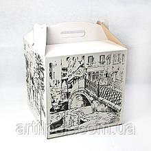 Коробка для торту 300*300*300 біла з МАЛЮНКОМ