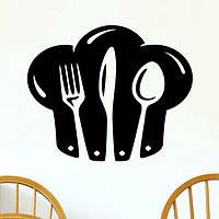 Наклейка Стікер Кухонні Прилади на стіну, скло, меблі для Кафе Ресторану Кухні