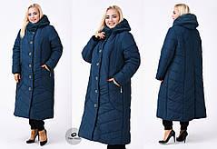Зимнее женское пальто А-силуэта  с 60 по 72 размер, фото 2