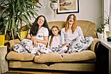 Детская хлопковая пижама с кофтой Панда 146 см, фото 3