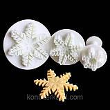 Плунжер  Снежинка 3 шт (кнопка), фото 3