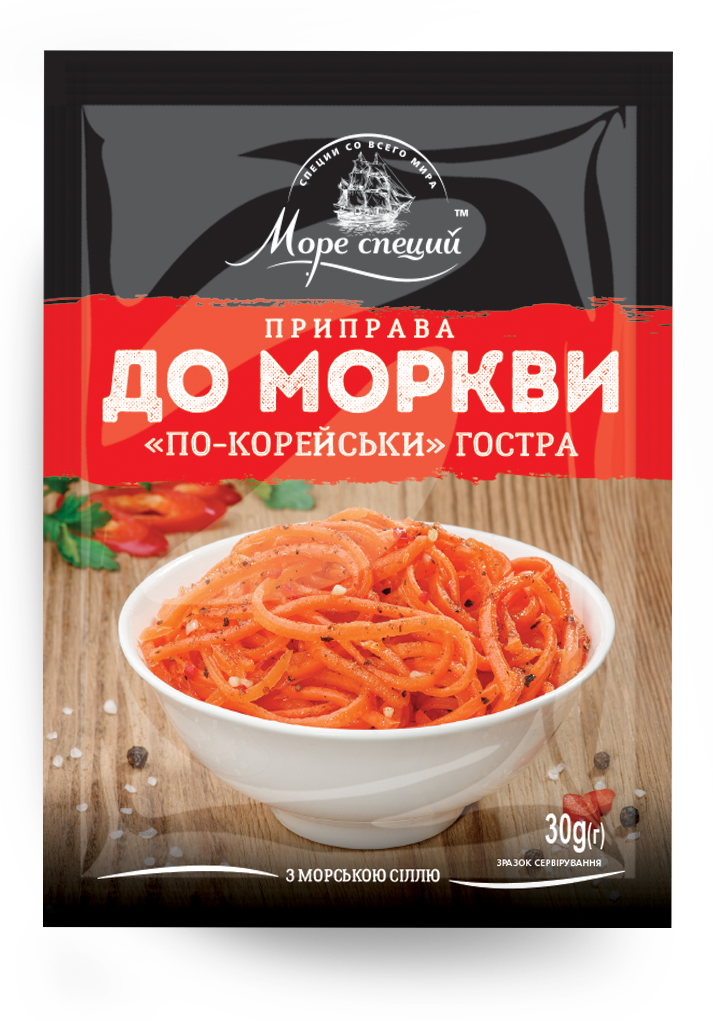 Приправа для моркви по-корейськи гостра 30 г.