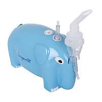 Ингалятор компрессорный, небулайзер детский Longevita CNB69012 Синий, фото 1