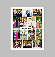 Постер поздравительный для учителя (с фотографиями) Печать + оформление в рамку