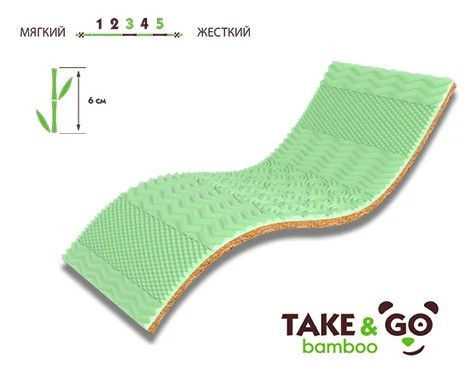 Мини-матрас Take&Go Bamboo Green Kokos