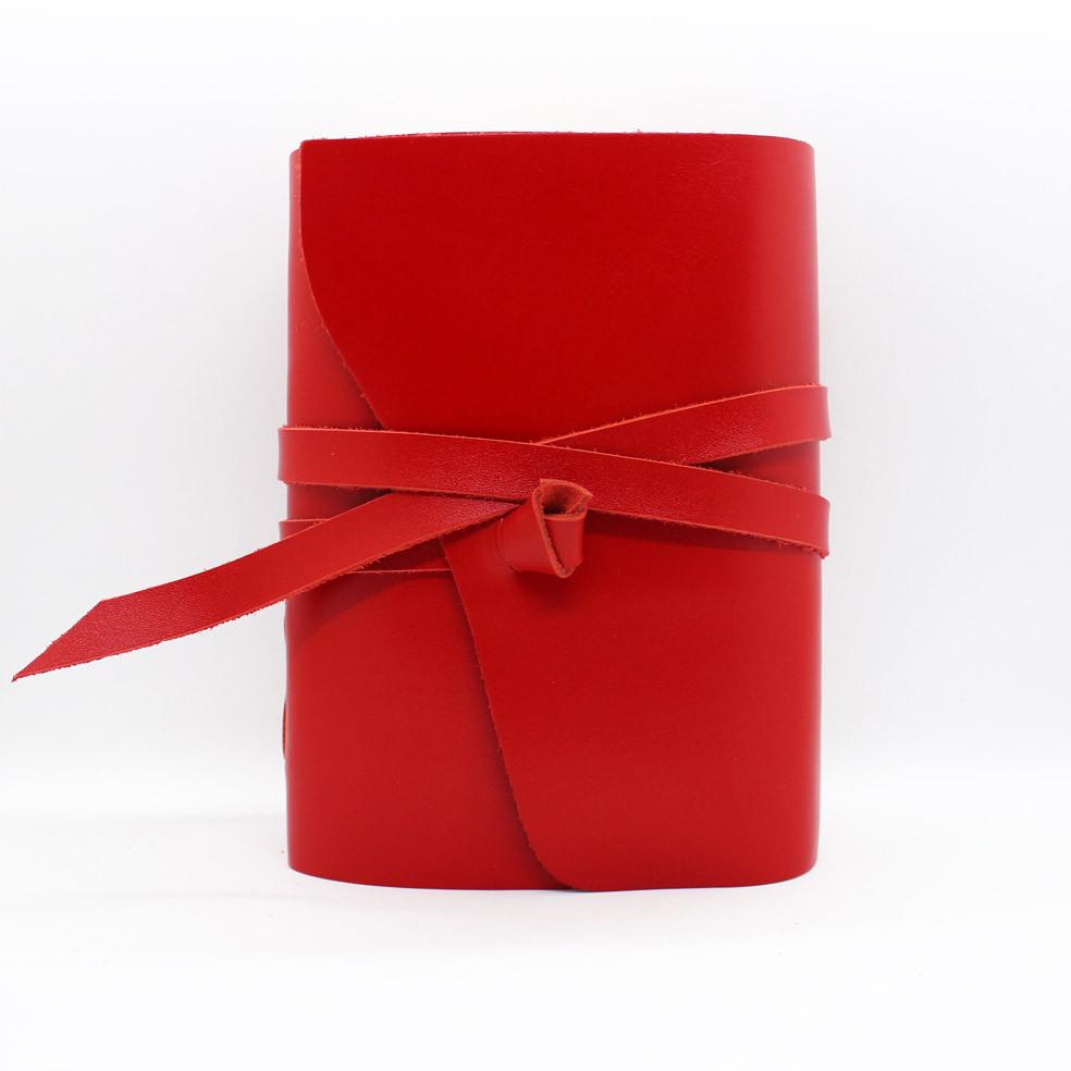 Кожаный блокнот ручной работы COMFY STRAP А5 женский красный
