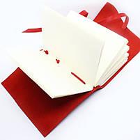 Кожаный блокнот ручной работы COMFY STRAP А5 женский красный, фото 3