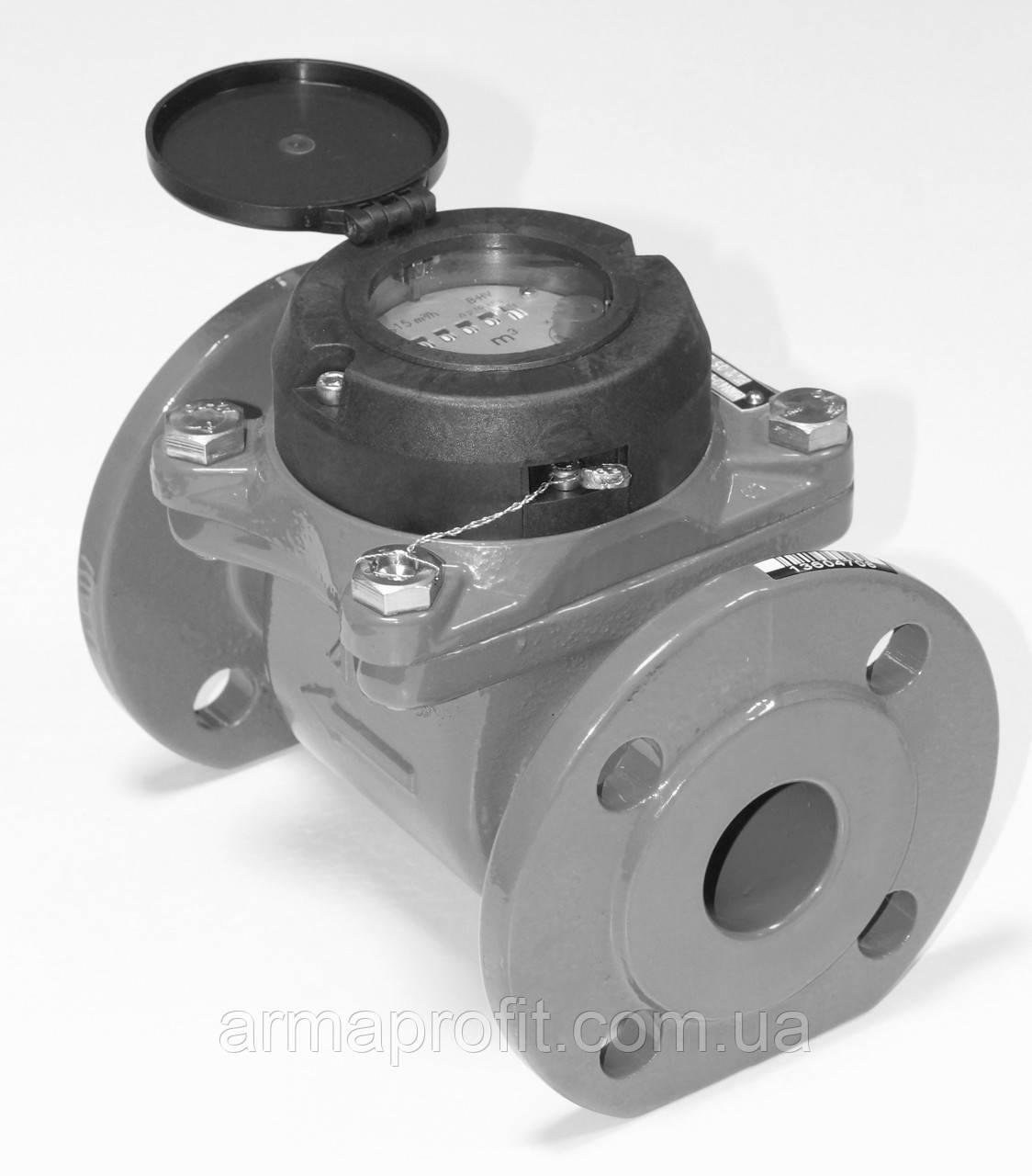 Счетчик горячей воды турбинный фланцевый Ду250 Powogaz MWN-130-250