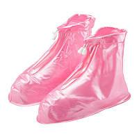 Чехлы-бахилы на обувь от дождя розовые R190371