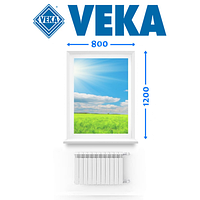 Немецкое Окно VEKA, (800 * 1200 см.), Глухое, Ромны, фото 1