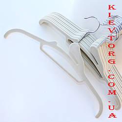 Плечики вешалки флокированные (бархатные, велюровые) бежевые, длина 410 мм