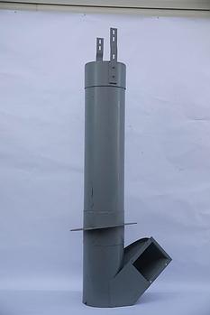 Кожух КЗК-10-0216010 зернового шнека наклонного бункера Полесье КЗС-1218 после 2009г