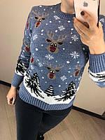 Стильный теплый шерстяной женский свитер  (вязка), фото 1