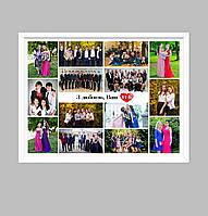 Постер поздравительный для учителя (с фотографиями) Печать + оформление в рамку А4