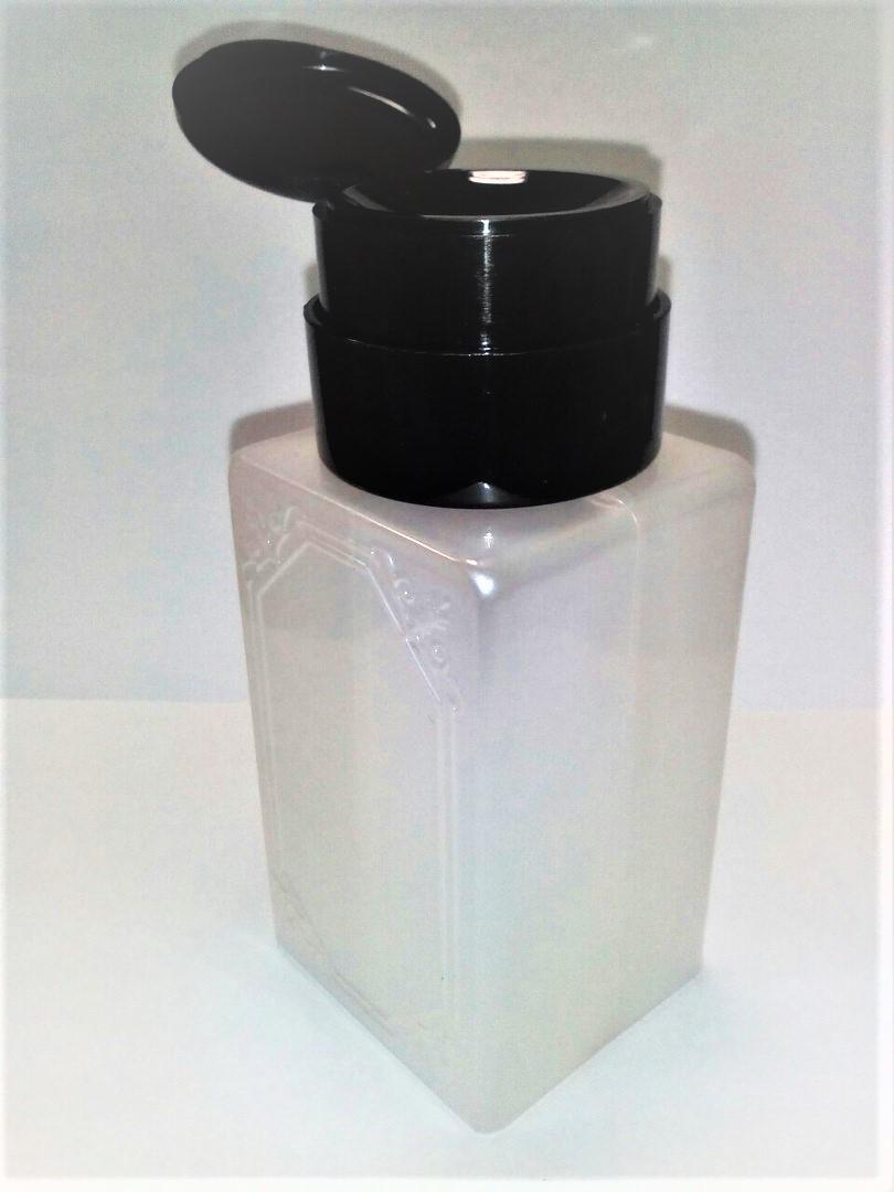 Пластиковая емкость с помпой для жидкостей, 200 мл. (с декором)
