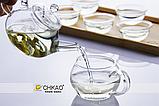Ручной работы ясный маленький стеклянный чайник, фото 6